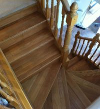 Oak Stair Cladding fitted & pre finished in a clear oil by ...