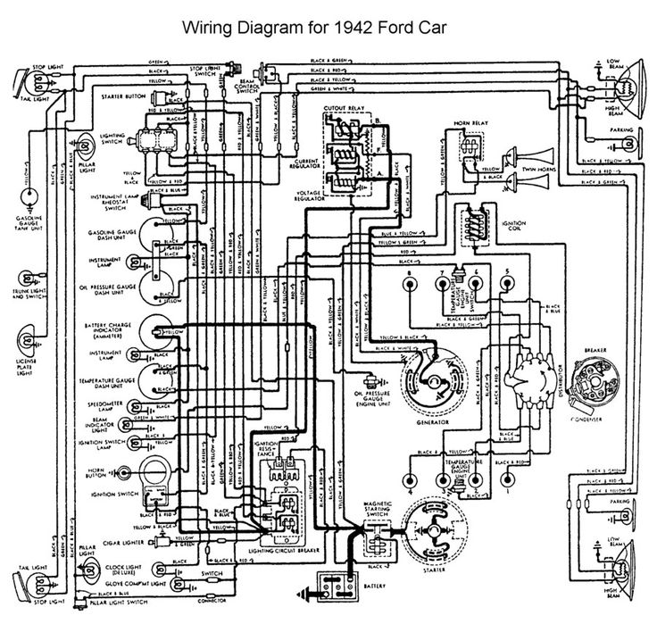 1942 ford wiring