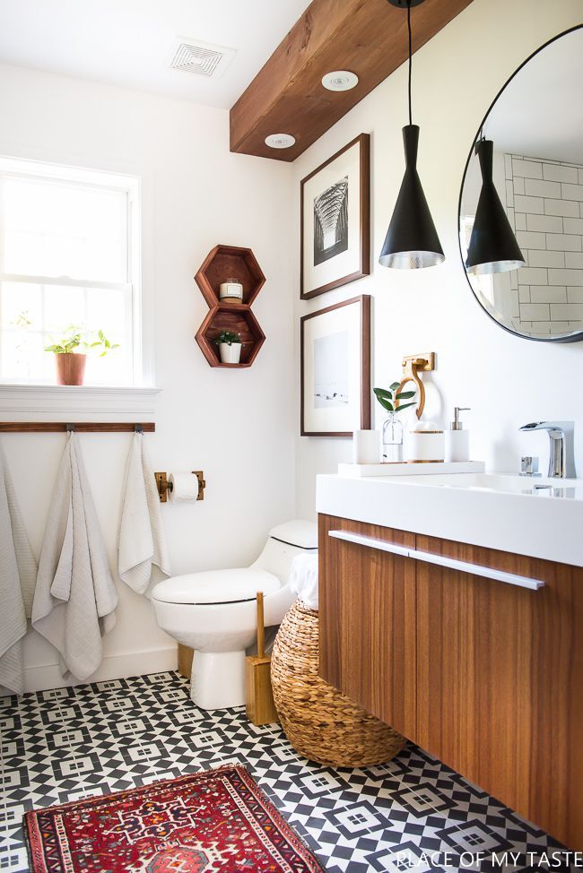 Boho modern bathroom boho decor bathroom bathroom decor wood modern
