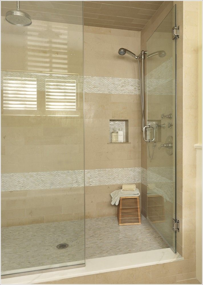 Bathroom modern boston glass shower door horizontal