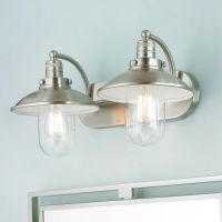 Retro Glass Globe Bath Light - 2 Light | Bathrooms decor ...