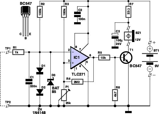 latching continuity tester circuit