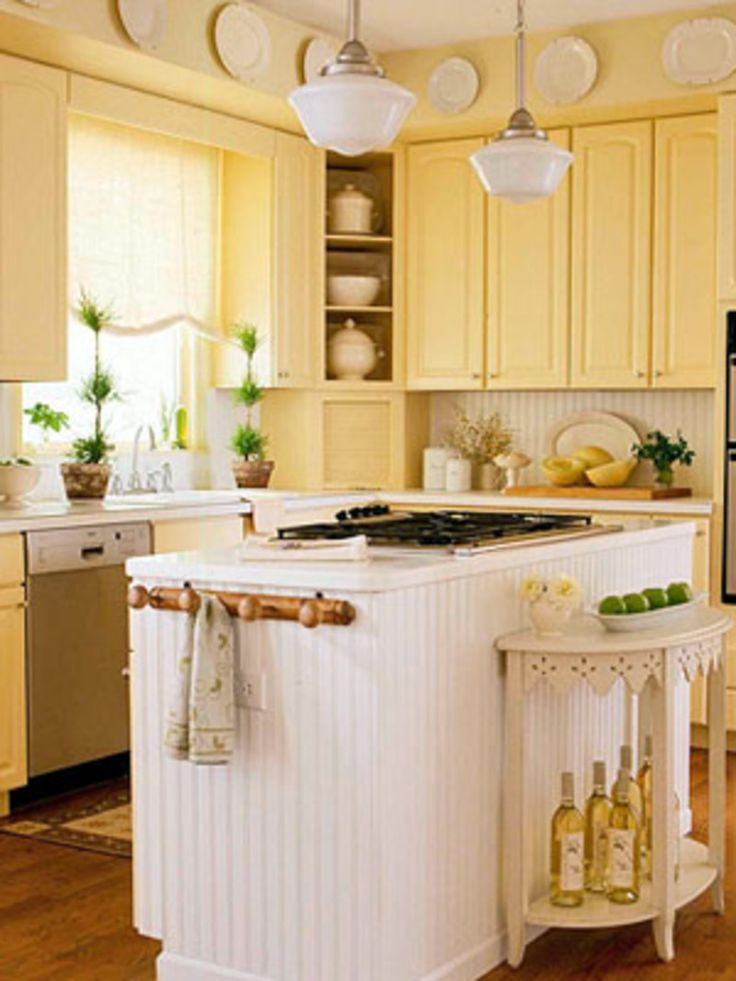 Delighful Country Kitchen Color Ideas In For Brightening The With - small country kitchen ideas