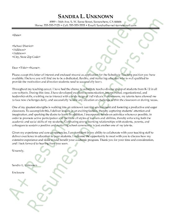 Letter Of Intent For An Assistant Principal Position Sample Recommendation Samples Teacher And