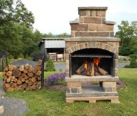 Outdoor Fireplace Kit http://exceptionalstone.com ...