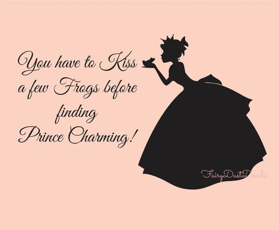 Black And White Tree Wallpaper Once Upon A Time Princess Decal Kissing A Frog You Have To Kiss A Few