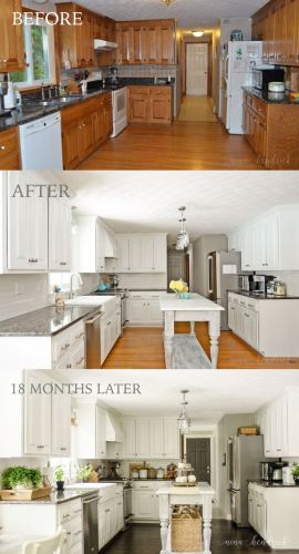 painted cupboards kitchen cabinet painting How We Painted Our Oak Cabinets and Hid the Grain