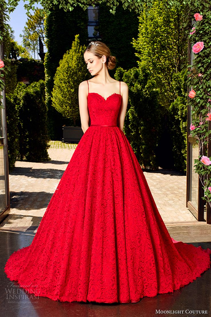 colored wedding dresses evening gowns cocktail dre red wedding dress Moonlight Couture Spring Wedding Dresses