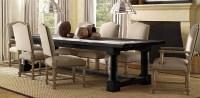 Restoration Hardware Black table, Cream chairs ...