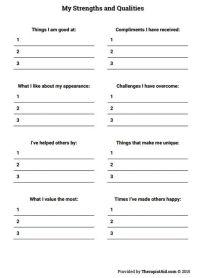 25+ best ideas about Self esteem worksheets on Pinterest ...