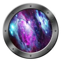 Galaxy Porthole Wall Decal Spaceship Graphics Decals Kids ...