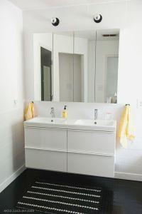 Ikea High Gloss White Master Bathroom With IKEA GODMORGON ...