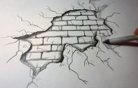 brick wall sketch - Google Search | Drawings | Pinterest ...