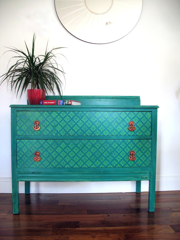 Love Copper And Turquoise Upcycled Chest Of Drawers