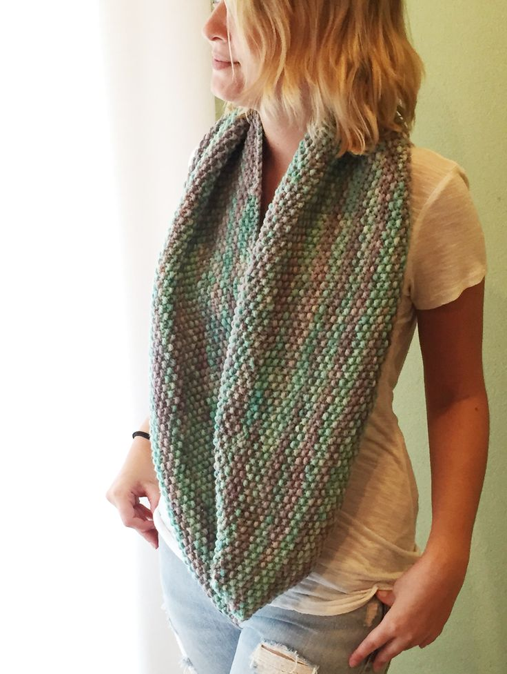 Scarves Knit Infinity Scarf Pattern Erieairfair