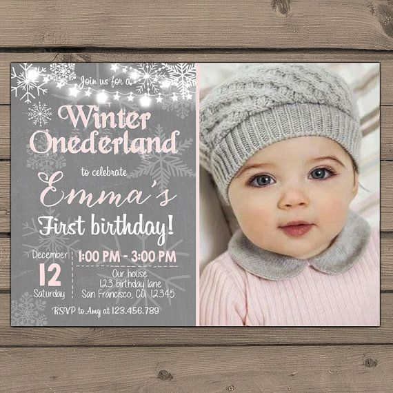 Best 25 Winter Onederland Invitations Ideas On Pinterest