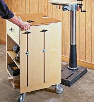 Drill Press Cabinet - Could consider mounting bench height ...