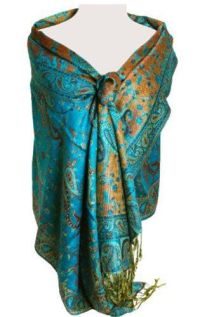 Reversible Paisley Pashmina Shawl Wrap in Elegant Colors ...