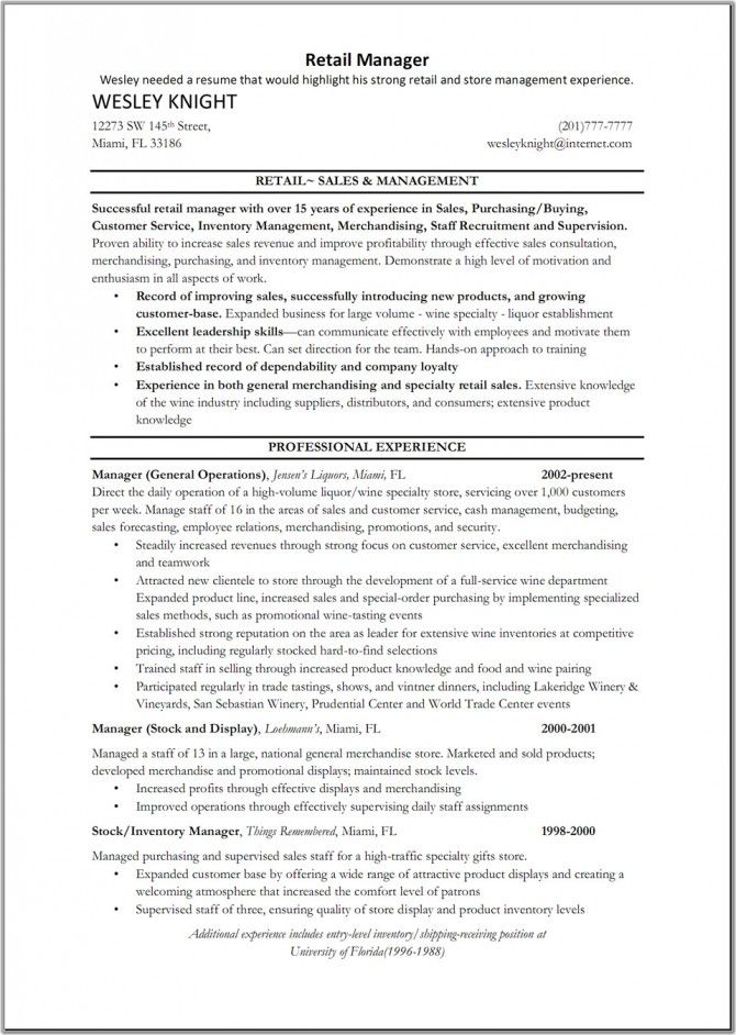 sales managers resume examples