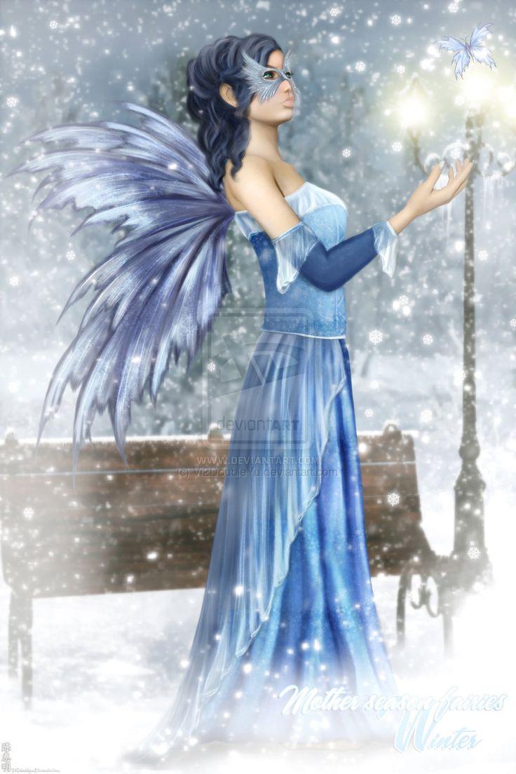 Fall Fairys Wallpapers Mother Season Fairies Winter By Vi2doubleyu Deviantart