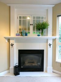 White Corner Electric Fireplace. With faux mercury glass