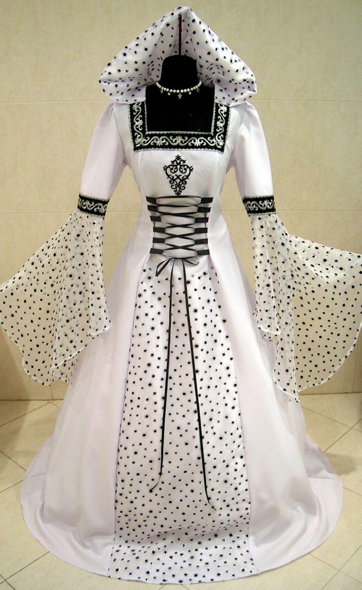 wiccan wedding dresses pagan wedding dresses MEDIEVAL WEDDING DRESS GOTHIC L XL XXXL 20 22 24 HALLOWEEN VICTORIAN