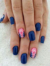 Royal blue - Pink - White - Corset - Nail design   nails ...