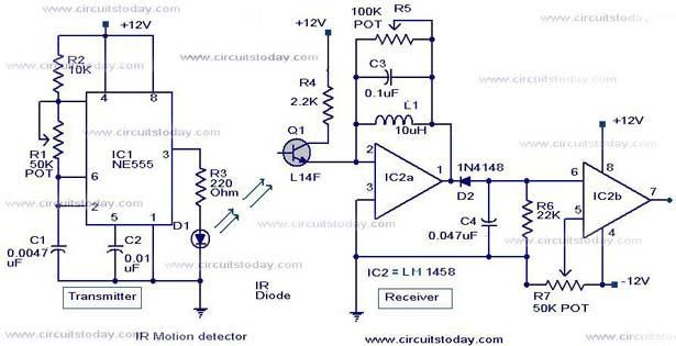 ir motion sensor circuit