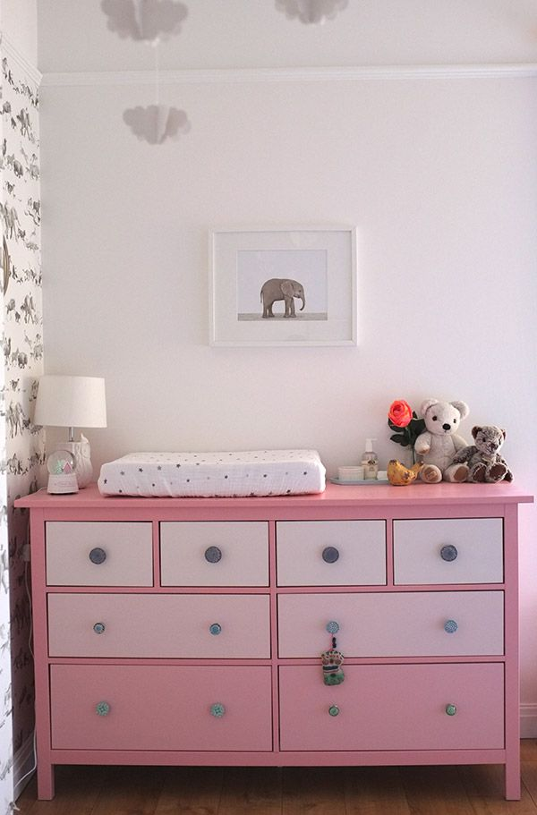 Ikea Baby Furniture Real Rooms: A Modern Animals Nursery // Ikea Hemnes 8