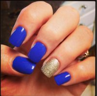 Royal blue and gold nails | Fall Baby Shower | Pinterest ...