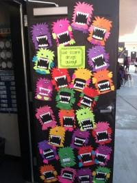 We scare drugs away! Red ribbon week door decorating ...