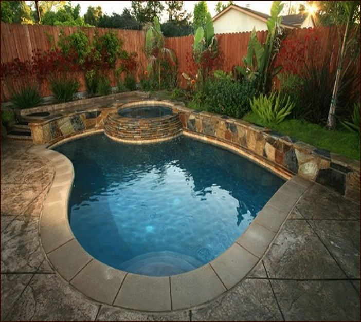 243 best images about Small Inground Pool & Spa Ideas on