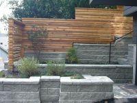 horizontal fence block retaining wall - LOVE. THIS ...