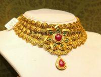 Jewellery Designs: Malabar Gold Fancy Choker | Antique ...