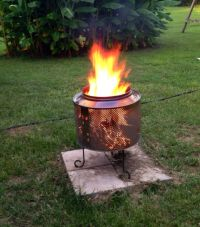 Our DIY fire-pit made from a washer drum   DIY   Pinterest ...
