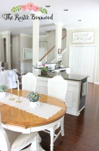 Open concept in a small home: dining room, kitchen, entry