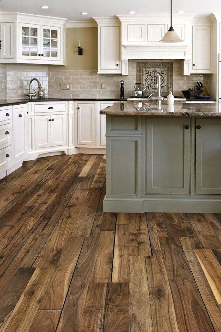 rustic wood floors kitchen flooring types Pinterest Pinners picked this kitchen as their favorite Pinners all want
