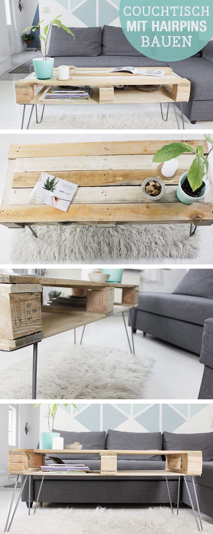 Hairpin Couchtisch 1000+ Ideas About Pallet Coffee Tables On Pinterest