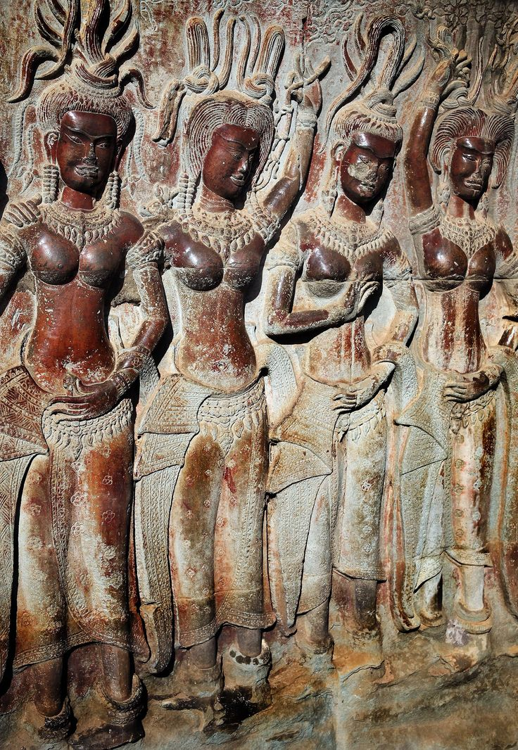 Element Bas Kerrytravel: Ancient Bas-relief Apsara Carvings | Angkor