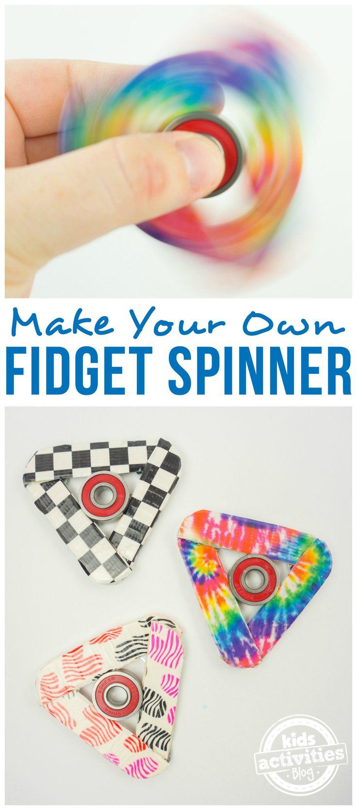 How to make a fidget spinner craft sticksvbs