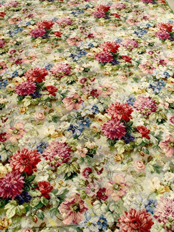 Axminster Floral Carpet Vintage Carpet Pinterest