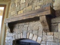 Inspiring Rustic Fireplace Mantel - Home Design #1042