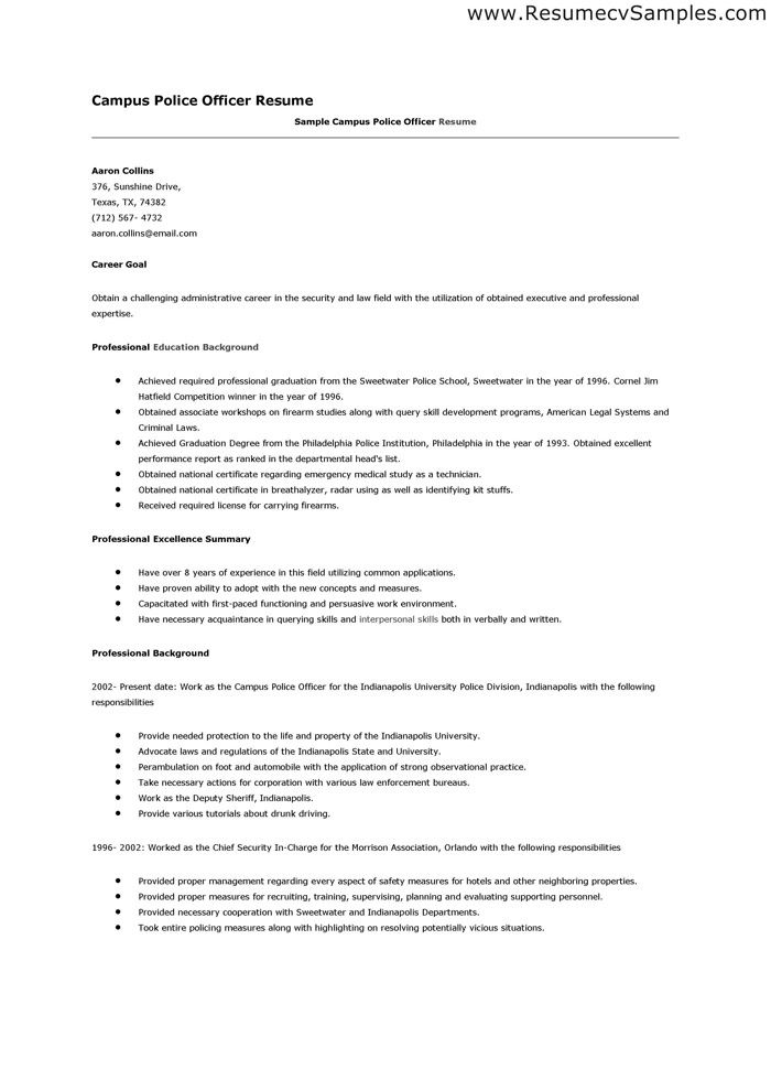 police officer resume samples more resume police officer resume
