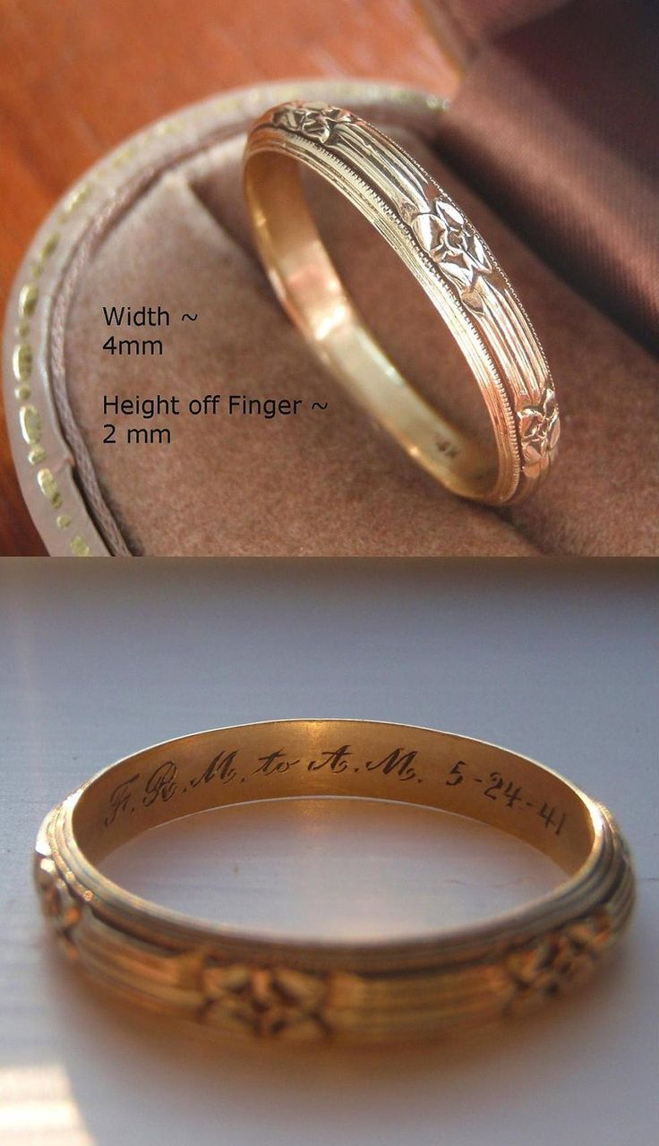 wedding rings pagan wedding rings Vintage Solid 14K Gold Men s Wedding Band Engraved Extra Large Size Very Stylish and Handsome Man Men Male Men s