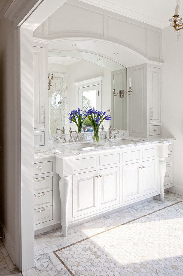 78+ Ideas About White Bathroom Cabinets On Pinterest | Master Bath