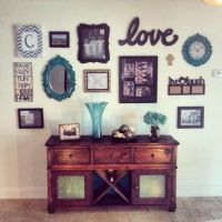 Buffet Table / Hutch with Wall Collage | Do It Yourself ...