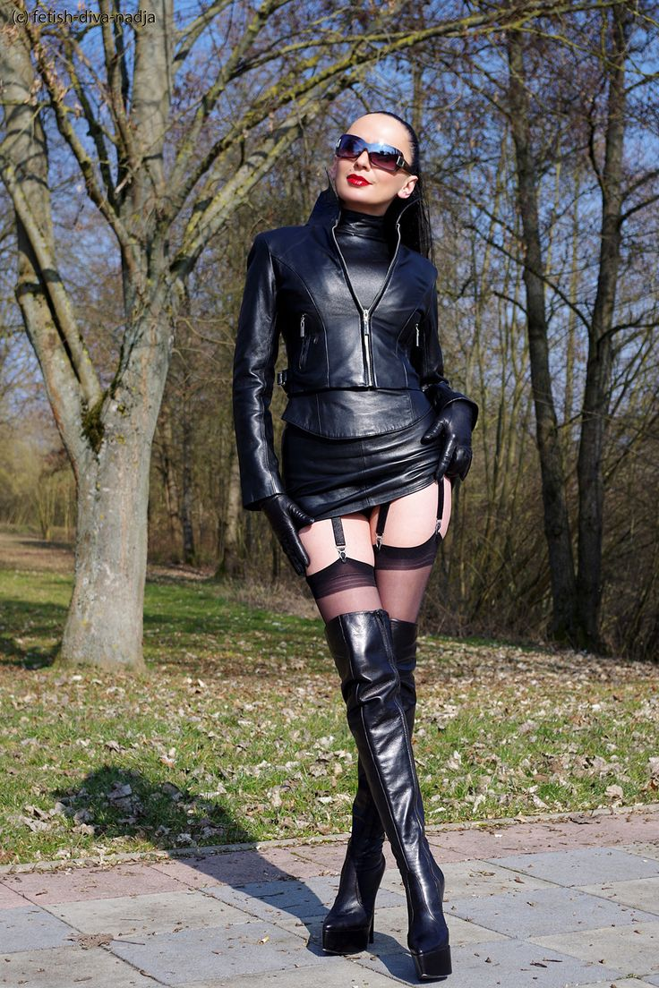 All in leather great leather lady women in leather pinterest leather lady and boots