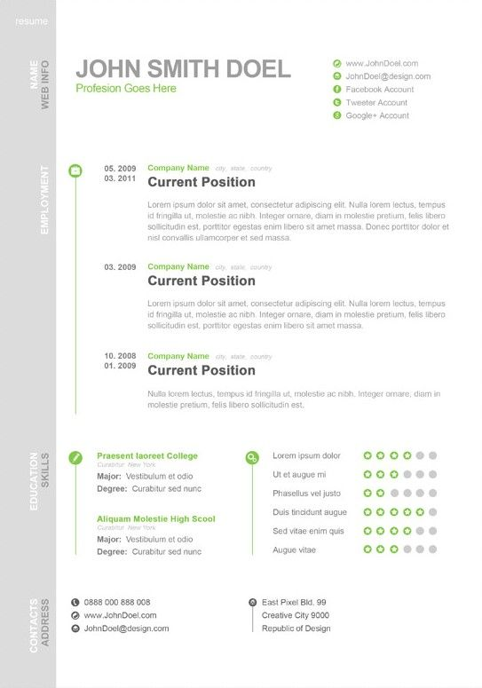 best resume cv template web
