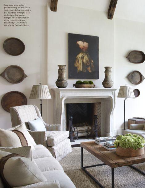 Jim Howard, living room, Veranda magazine