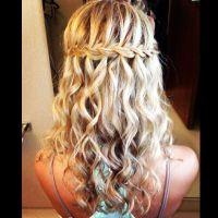 Waterfall braid wedding hair | Hair I like | Pinterest ...